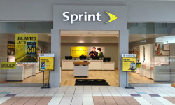 Sprint store in mall with in-building wireless